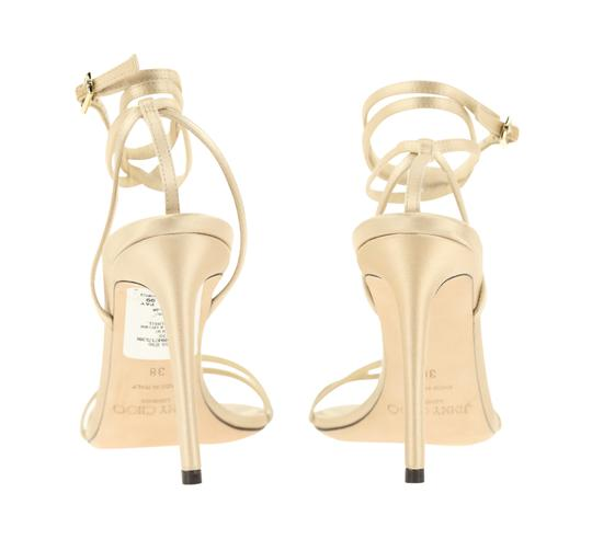 Jimmy Choo Satin Nude gold Pumps Image 2