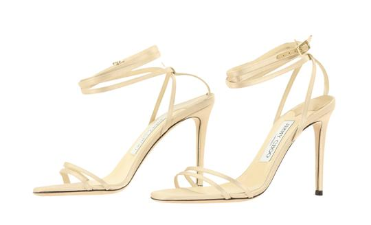 Jimmy Choo Satin Nude gold Pumps Image 3