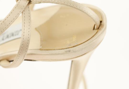 Jimmy Choo Satin Nude gold Pumps Image 7