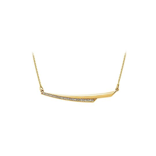 Preload https://img-static.tradesy.com/item/25152300/white-cubic-zirconia-linear-style-14k-yellow-gold-necklace-0-0-540-540.jpg