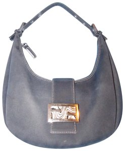 Fendi Excellent Condition Shoulder Le Style Enamel/Chrome Clasp Hobo Bag