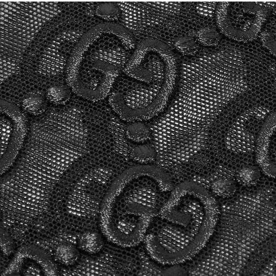 Gucci logo embroidered tulle mesh gloves Image 2