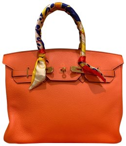 Hermès Satchel in orange
