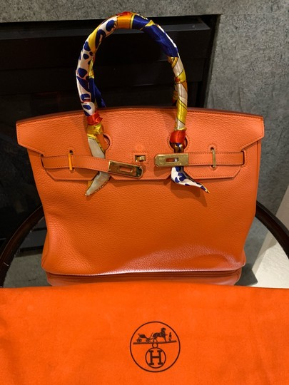 Hermès Satchel in orange Image 7