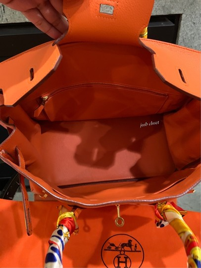 Hermès Satchel in orange Image 9