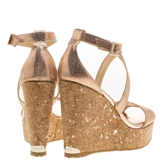 Jimmy Choo Crisscross Strap Metallic Sandals Image 6