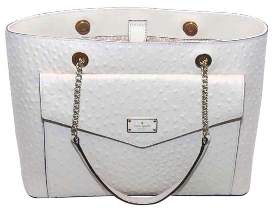 Preload https://img-static.tradesy.com/item/25152390/kate-spade-a-la-vita-halsey-sftporcln-ostrich-emobssed-leather-with-smooth-leather-trim-tote-0-1-540-540.jpg