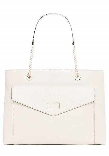 Kate Spade Halsey Ostrich Ivory Tote in sftporcln Image 2