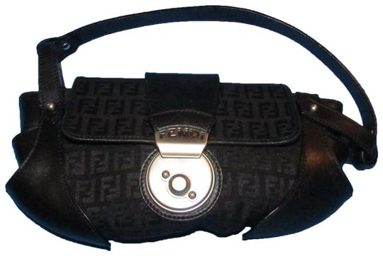 Preload https://img-static.tradesy.com/item/25152418/fendi-zucchino-canvasleather-compilation-purse-black-canvas-and-black-leather-with-brushed-chrome-ac-0-1-540-540.jpg