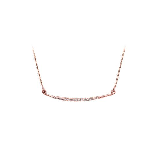 Preload https://img-static.tradesy.com/item/25152432/pink-natural-diamonds-curved-bar-14k-yellow-gold-necklace-0-0-540-540.jpg