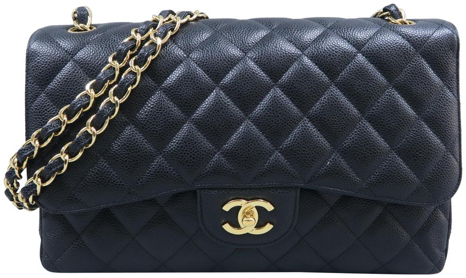 461fa515cc4e Chanel Classic Flap Jumbo Double Black Caviar Shoulder Bag - Tradesy