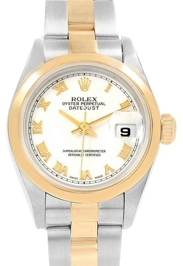Preload https://img-static.tradesy.com/item/25152629/rolex-white-datejust-steel-yellow-roman-dial-ladies-69163-watch-0-1-540-540.jpg