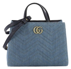 e6addb1e2366 Added to Shopping Bag. Gucci Denim Tote in blue. Gucci Marmont Pearly  Matelasse Small ...