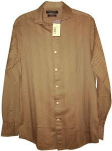 Daniel Cremieux Men's New With Tag Button Down Shirt Brown