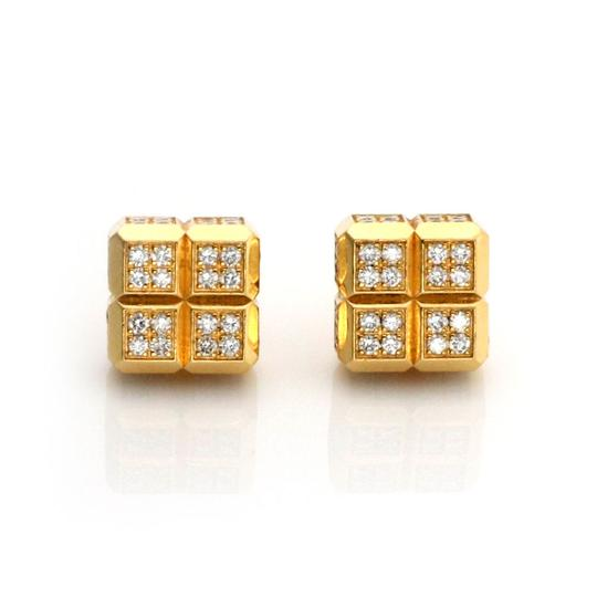 Preload https://img-static.tradesy.com/item/25153392/chopard-23324-diamond-ice-cube-18k-yellow-gold-square-stud-earrings-0-0-540-540.jpg