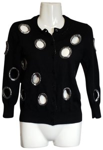 Marc by Marc Jacobs Cut-out Metallic Dryclean Only Cardigan