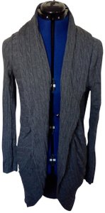 Tommy Hilfiger Long Cable Knit Figure Flattering Soft Comfortable Cardigan