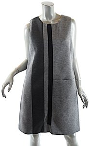 Lisa Perry short dress Grey Color Block Large Size on Tradesy
