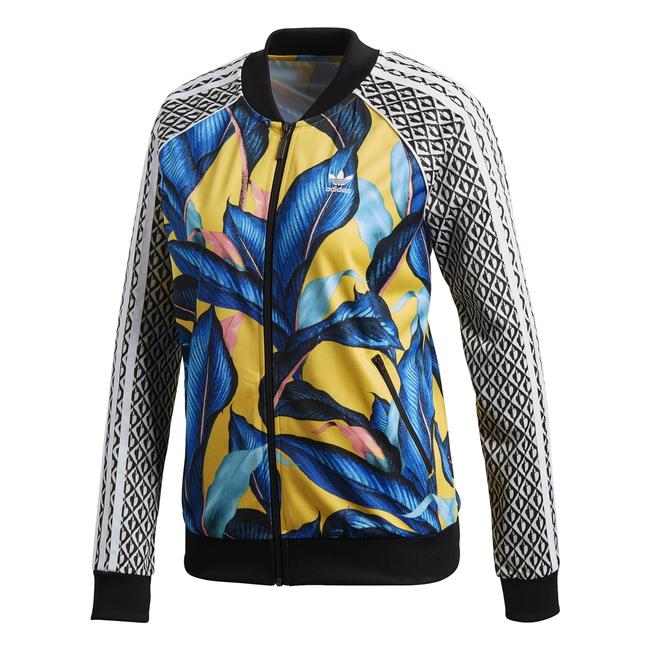 Item - Yellow Limited Edition Floral Leaf Tropical Track Jacket Size 6 (S)