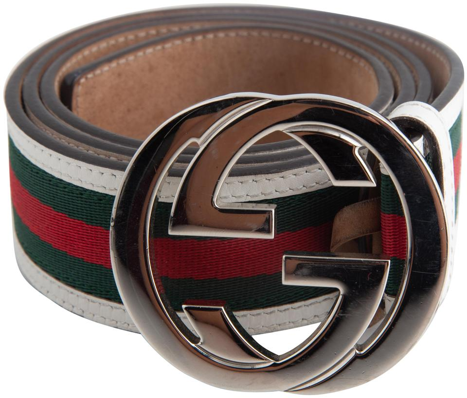 0b4e2ccdd73 Gucci Gucci GG Web Leather Belt with Interlocking G Buckle Image 0 ...