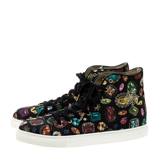 Charlotte Olympia Canvas Leather Multicolor Flats Image 2