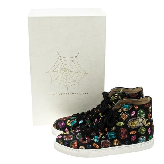Charlotte Olympia Canvas Leather Multicolor Flats Image 7