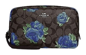 Coach NWT Coach BOXY COSMETIC CASE 20 IN SIGNATURE with FLORAL PRINt F37566