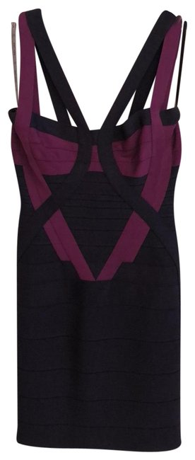 Item - Navy Purple Short Casual Dress Size 0 (XS)