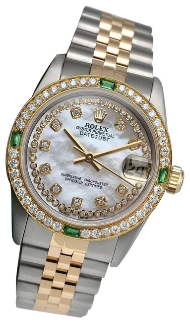Rolex Two Tone Datejust 31mm White Mop String Diamond Dial/Bezel 68273 Watch Rolex Two Tone Datejust 31mm White Mop String Diamond Dial/Bezel 68273 Watch Image 1