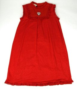 Gucci Red Jersey Children's Linen Empire Lace Dress 12 Years 458295 6518 Groomsman Gift