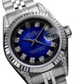Rolex Rolex Ladies Datejust 26mm Blue Vignette Diamond Dial/Lugs 69174