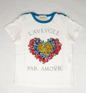 Gucci White Jersey Cotton Floral Heart Shirt 36 Months 457677 9157 Groomsman Gift