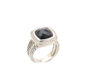 David Yurman Albion Diamonds & Onyx Sterling Silver Cable Ring