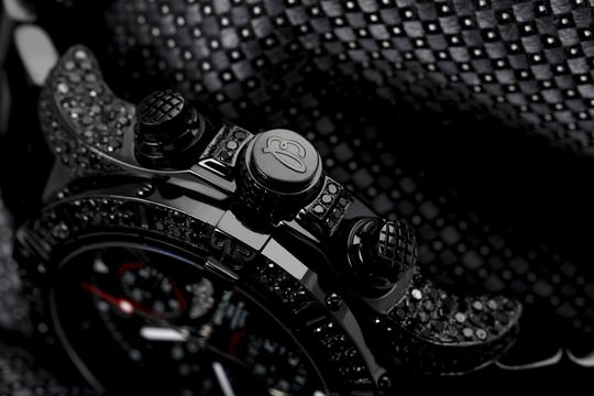 Breitling Breitling Super Avenger Chronograph Stainless Steel Black PVD Watch Image 1