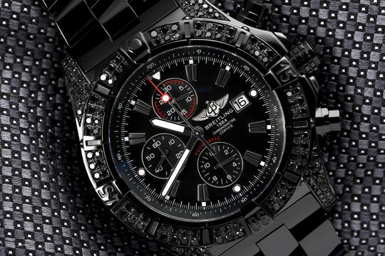 Breitling Breitling Super Avenger Chronograph Stainless Steel Black PVD Watch Image 2