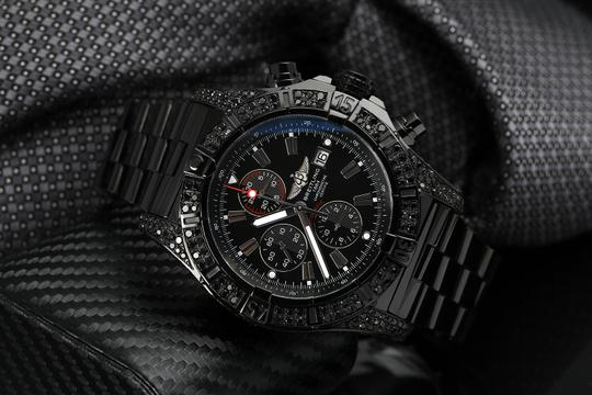 Breitling Breitling Super Avenger Chronograph Stainless Steel Black PVD Watch Image 4