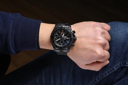 Breitling Breitling Super Avenger Chronograph Stainless Steel Black PVD Watch Image 8