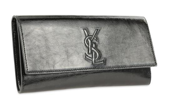 Saint Laurent Leather Black Clutch Image 1
