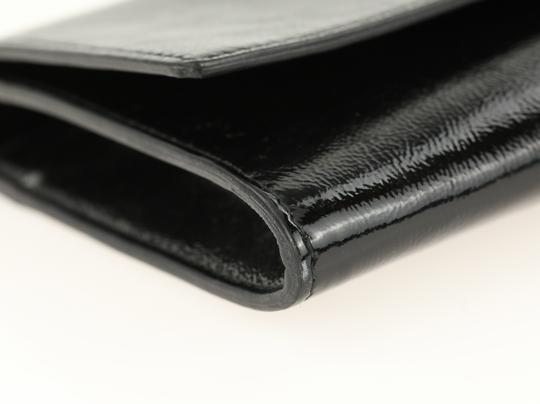 Saint Laurent Leather Black Clutch Image 4
