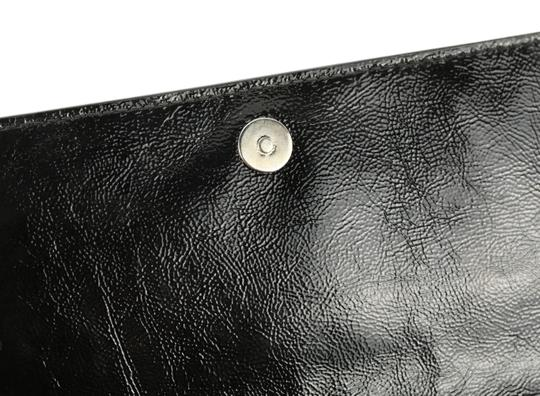 Saint Laurent Leather Black Clutch Image 8
