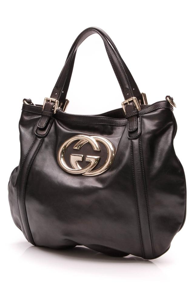 9b7a0ae7556c Gucci Britt Hobo - Black Leather Messenger Bag - Tradesy