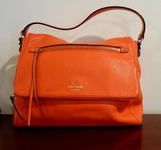 Kate Spade Cobble Cobble Hill Toddy Orange Shoulder Bag Image 4