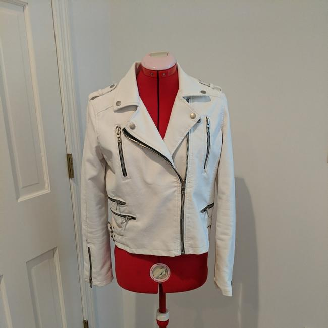 Item - White Vegan Motojacket Jacket Size 4 (S)