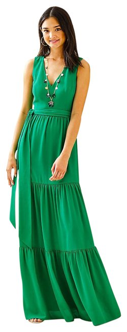 Item - Green Maurine Maxi Long Cocktail Dress Size 4 (S)
