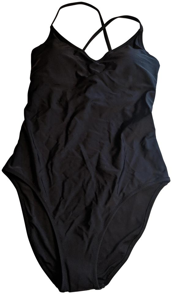 Aerie Black Strappy And Low One Piece Bathing Suit Size 8 M Tradesy