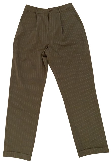 Item - Green Olive Cream Ankle Woven Pants Size 4 (S, 27)