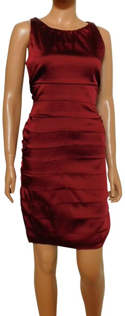 Item - Cranberry Red New Stretch Satin Short Cocktail Dress Size 10 (M)