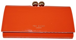 ab05813e1bca Ted Baker New TED BAKER London Matinee Floral Bobble Lock Wallet RED Patent