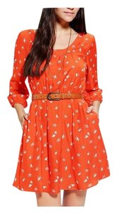 Cooperative short dress Orange on Tradesy