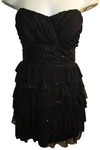 Roberta Vintage Strapless Ruffled Sequined Oneanm Dress
